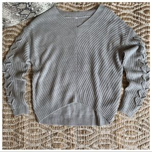 (AVAIL IN L) OTHER LISTING GREY X SLV V NE SWEATER